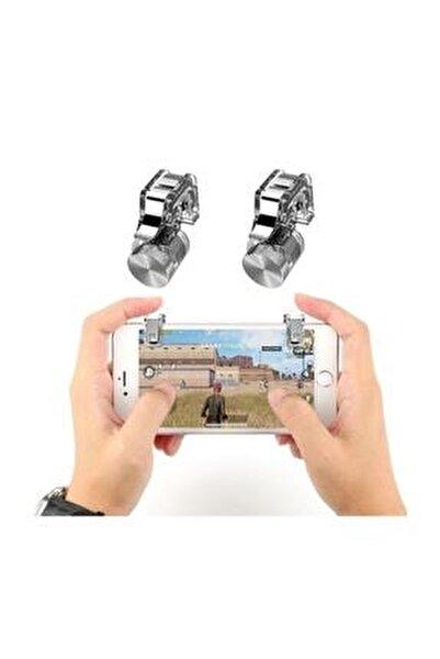 R11 Pubg Telefonlar Için Çift Oyun Adaptörü Ateş Tetik Düğmesi