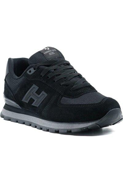 Hammer Jack Unisex Siyah Hakiki Deri Spor Ayakkabı