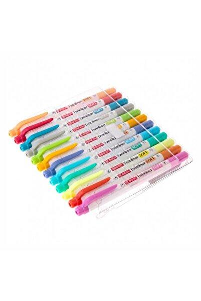 Dong-A Donga Twinliner Soft Bright 24 Renk Çift Taraflı Fosforlu Kalem