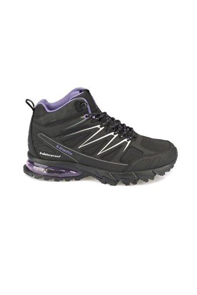 Kinetix Kadın Siyah Mor Petram Waterproof Ayakkabı