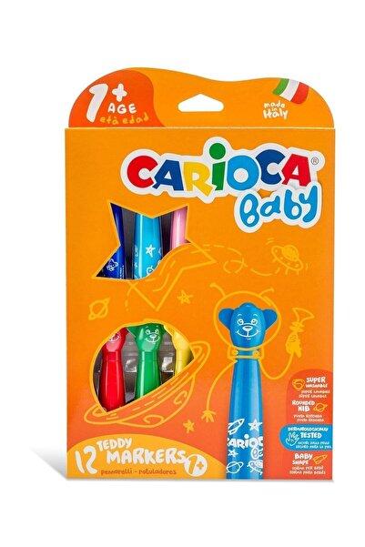 CARIOCA Baby Yıkanabilir Keçeli Boya Kalemi 12li Set