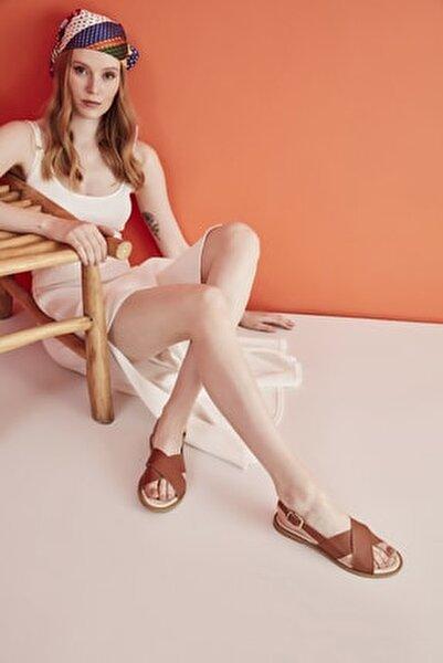 Hakiki Deri Taba Kadın Sandalet 01SAY600510A370