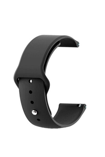 GTC Xiaomi Amazfit Bip Akıllı Saat Uyumlu Siyah Silikon Kordon (20mm)