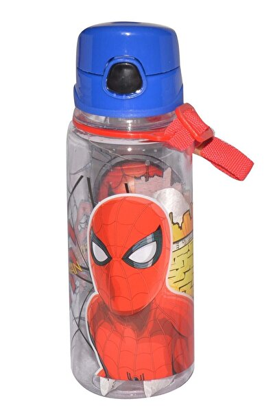 Hakan Çanta Spider-man 500 Ml Krılmaz Gövde Şeffaf Matara