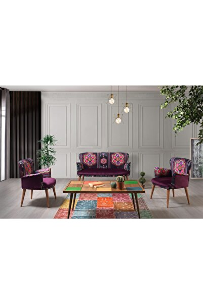 mobilyabazari Rio Sehpalı Çay Seti (salon, Balkon, Ofis, Cafe)