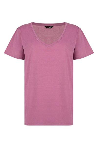 Penti Kadın Leylak V Neck Tişört
