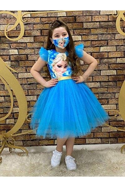 ELİNA BUTİK Kız Çocuk Frozen Elsa Anna Karlar Ülkesi Parti Elbisesi