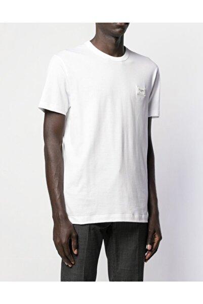 Fendy Erkek Beyaz Bisiklet Yaka Tshirt