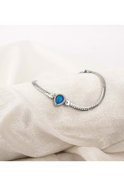 Else Silver Damla Opal Taşlı Gümüş Bileklik