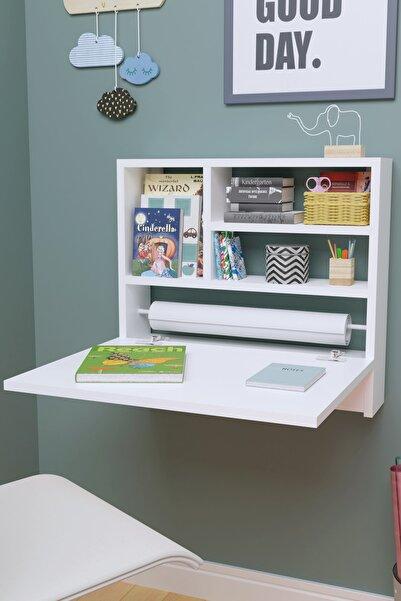 Ankaflex Beyaz Duvara Monte Montessori Eğitici Çocuk Kitaplık