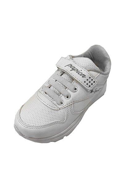 Papion Çocuk Beyaz Sneakers Fashion Filet Spor Ayakkabı 105