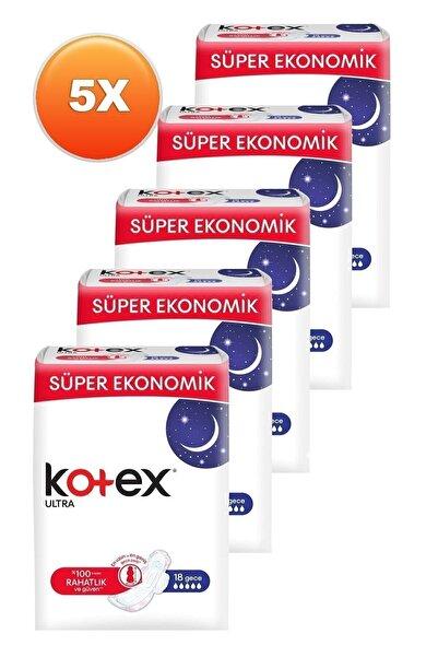 Kotex Ultra Gece Hijyenik Ped 18'li Beşli Set 8691900172175