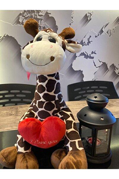 SELAY TOYS Kahverengi Zürafa Peluş Oyuncak 40cm