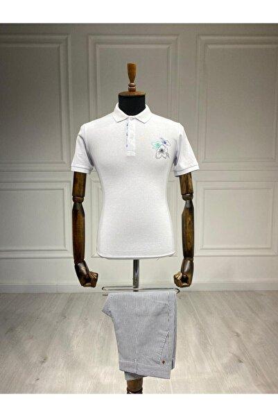 Sarar Interview Erkek Beyaz  Polo Yaka Tshirt