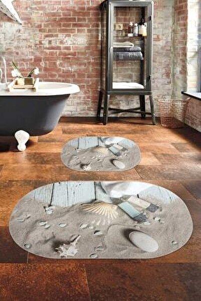 60x90 - 50x60shell Dijital Banyo Paspası 2'li Klozet Takımı