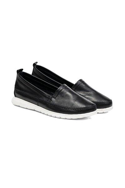 Greyder Kadın Siyah Renkli Babet Ayakkabı 57734