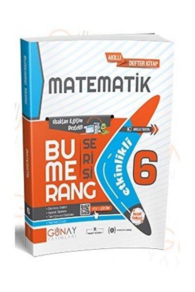 Günay Yayıncılık 6. Sınıf Matematik Bumerang Serisi Etkinlikli Akıllı Defter Kitap