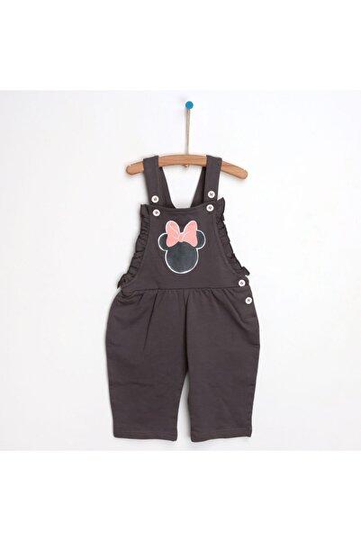DISNEY Kız Bebek Antrasit Disney Minnie Mouse Salopet