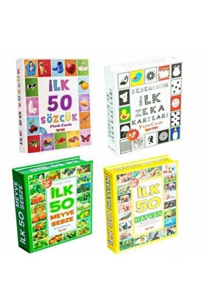 ERKOL OYUNCAK Diytoy Bebeğimin Ilk Zeka Gelişim Hafıza Kartları 4'lü Set Piyatoys