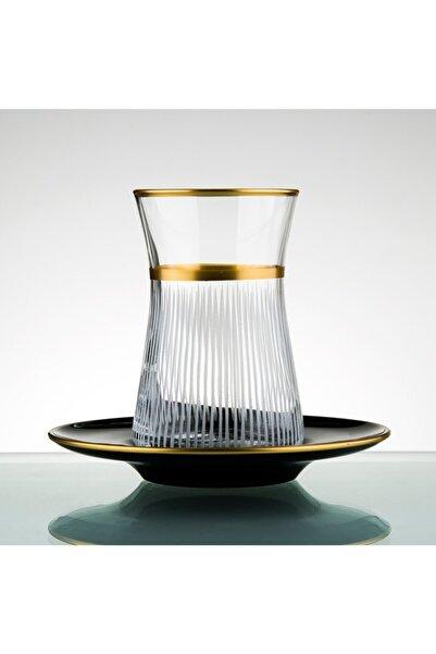 Paşabahçe El Yapımı Çay Seti 12 Parça 6 Kişilik