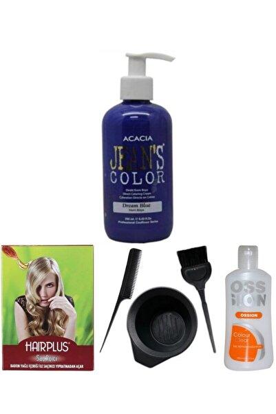 Acacia Saç Boyası Mavi Rüya 250ml , Saç Açıcı, Boya Temizleyici Ve Fluweel Boya Seti
