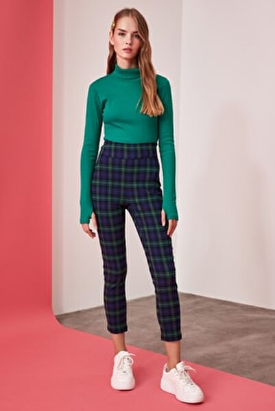 Çok Renkli Yüksek Bel Skinny Pantolon TWOAW21PL0208