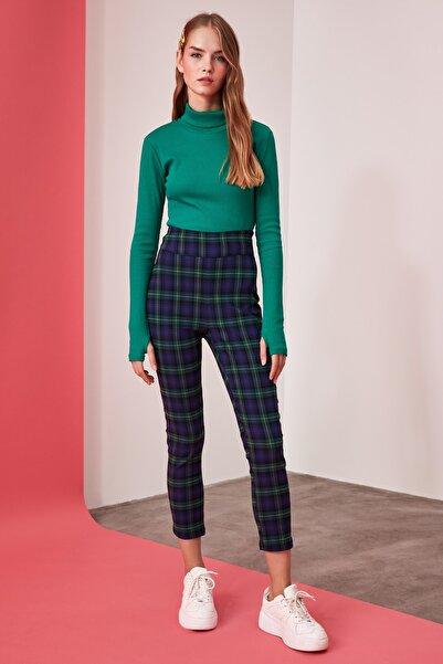 TRENDYOLMİLLA Çok Renkli Yüksek Bel Skinny Pantolon TWOAW21PL0208