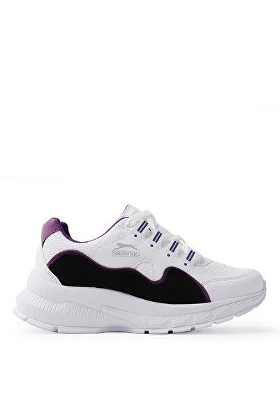 Slazenger Kerry Koşu & Yürüyüş Kadın Ayakkabı Beyaz / Mor