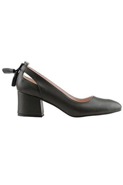 Ayakland Kadın Yeşil Topuklu Ayakkabı