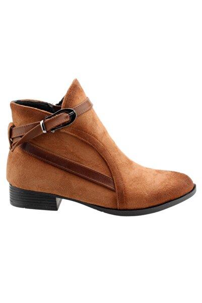 Ayakland Kadın Kahverengi Süet Fermuarlı Ayakkabı Bot 8284-835
