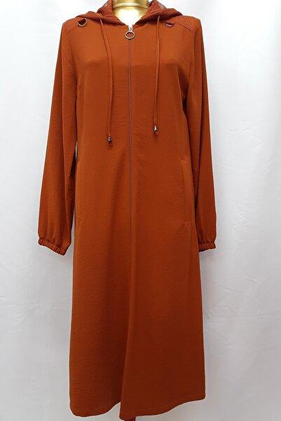 Kadın Turuncu Yıldız Asma Tunik Ceket