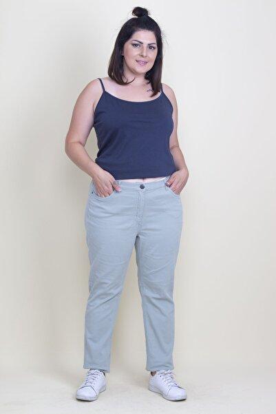 Şans Kadın Yeşil 5 Cep Kot Pantolon 65N17715