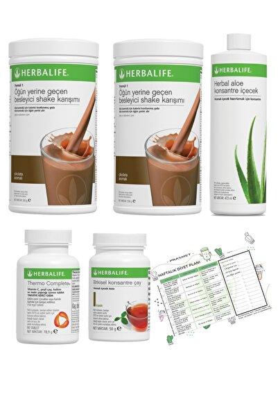 Herbalife Shake Çikolata 2 Adet  Klasik Çay  Aloe Vera  Thermo Complete