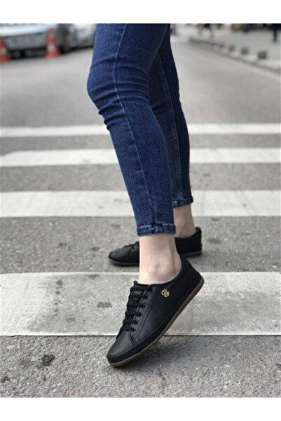 U.S POLO Jojo Siyah Kadın Deri Sneaker Ayakkabı V2