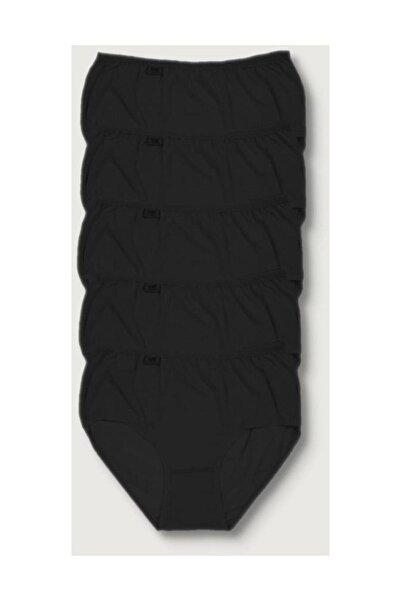 Kadın Siyah 5'li Paket  Likralı Bato Külot ELF568T0924CCM5 Siyah M