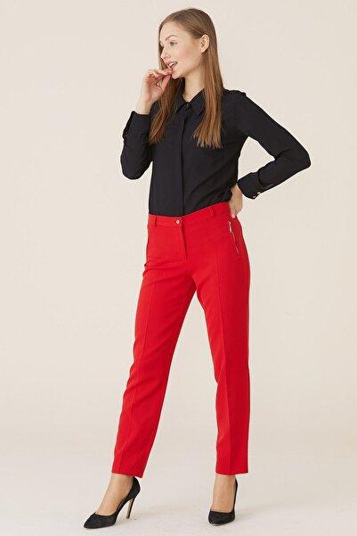 Nihan Kadın Kırmızı Pantolon 9a2030