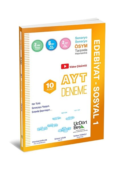 Üçdörtbeş Yayınları Ayt Edebiyat Sosyal Bilimler 1 10 Lu Deneme
