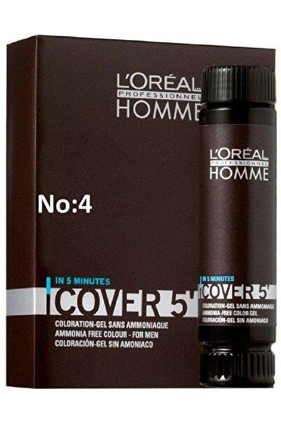 L'oreal Professionnel Pour Homme Cover 5' Erkekler için Amonyaksız Hızlı Saç Boyası No:4- Kestane 3x50 ml