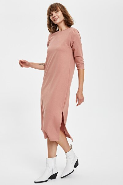 DeFacto Kadın Kiremit-530-13 Örme Elbise S9527AZ20HS