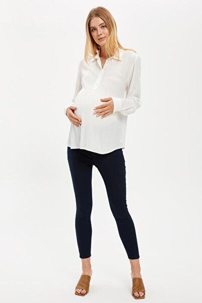 DeFacto Kadın Lacivert Hamile Dokuma Pantolon S5250AZ20AU