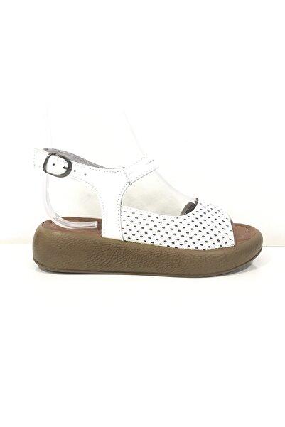 PUNTO 395013 Kadın Deri Sandalet
