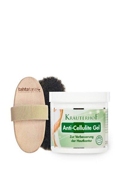 Krauterhof Selülit Karşıtı Doğal At Kılı Fırçası + Anti-cellulite Selülit Jeli 250 Ml