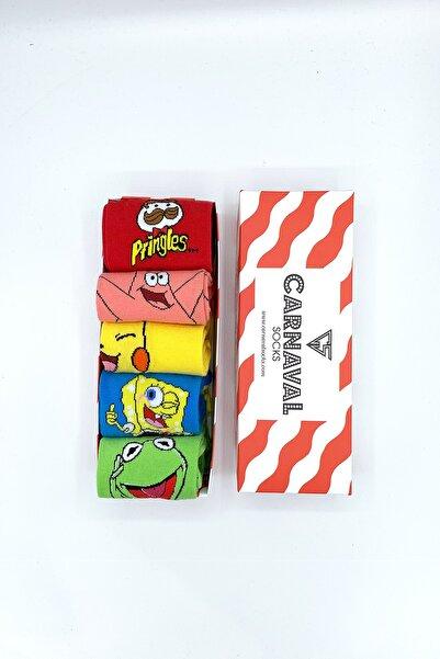 CARNAVAL SOCKS Neşeli Renkli Desenli Tasarım Çorap Seti