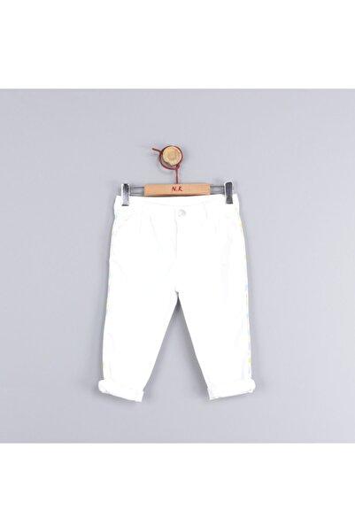 NK Kız Çocuk Beyaz Yanları Neon Şeritli Pantolon