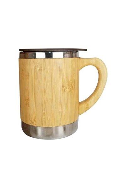 YAKUT Bambu Sızdırmaz Kapaklı Kupa Bardak Termos Çay Kahve Termosu