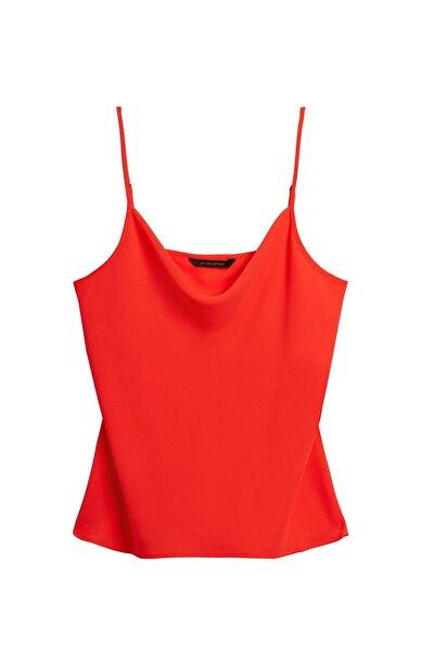 Banana Republic Kadın Kırmızı Yakası Dökümlü Bluz 588227