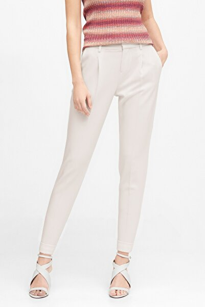 Banana Republic Kadın Beyaz High-Rise Tapered Cropped Pantolon 583882
