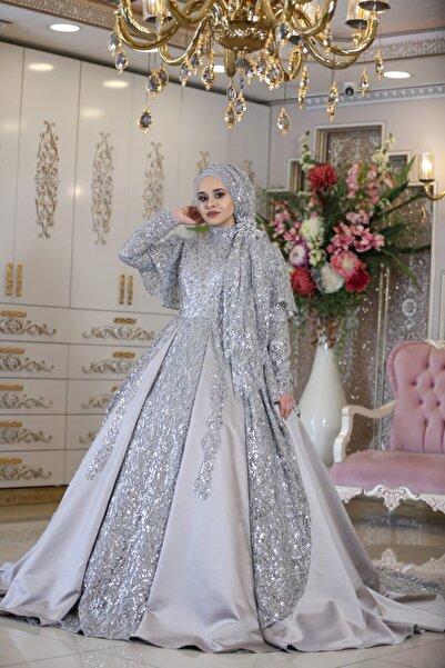 MAHİDEVRAN Kadın Gümüş Gelinlik
