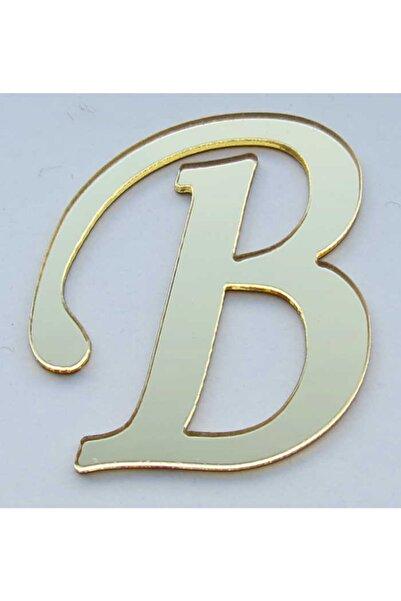 Bihızlı Pleksi Altın Renk B Harfi