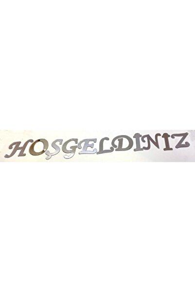 Bihızlı Gümüş Renk Hoşgeldiniz Yazılı Pleksi Harfler Her Bir Harfin Çapı 4 cm